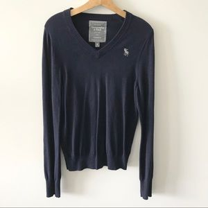 Abercrombie & Fitch V Neck Long Sleeve Sweater